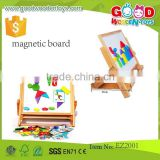 high quality kids magnetic drawing board writing white board wooden magnetic board