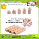 Montessori Toys Knobbed Small Cylinders Wooden Educational Toy                                                                         Quality Choice