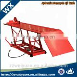 High quality and low price Lift Table Hydraulic Motorcycle, Air motorcycle lift table WX-9303