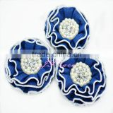 Wholesale DENIM PEARL RHINESTONE flower for headbands, home decor and other craft projects- new design