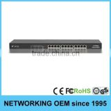 24-Port 10/100Mbps rack mount in wall network switch