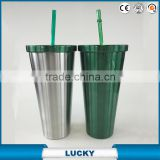 New 22 OZ Starbucks Stainless Steel Cold Cup Or Stainless Steel Straw Mug Tumbler With Straw