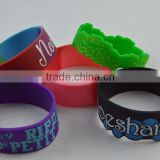 Cheapest ink filled silicone wristband, silcione bracelet with refill colour logo ,rubber bracelet ink filled