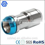 long stainless steel safe bolt nut with titanium washer together