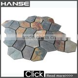 HS-WT111 patio stone tiles/black stone wall tile/ natural stone tile backsplash