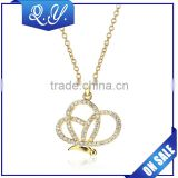 Hot sale fake simple gold chain necklace designs custome accessory jewelry beautiful gold animal pendant necklace