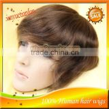 Best Quality Cheap 6'' Indian Mens Toupee Silky Straight Lace Size 8x6'' Human Hair Mens Wig Hair Pieces For Sale