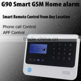 Diy home security alarm system package with curtain PIR sensor and glass break sensor for option