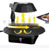 Rotating barbecue grill for low-grease food