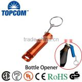 Bestowal mini 3 led keychain flashlight wholesale with bottle opener                                                                         Quality Choice