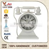 Elegant Top Quality Simple Style Custom Printing Logo Desktop Digital Wrought Iron Standing Clock