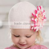 DB1591 dave bella 2014 autumn baby hat infant cap knitted fashion caps and hats with flower