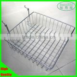 Iron wire mesh basket for grid wall & slatwall