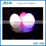 High waterproof LED Plastic egg shaped bar light / LED Plastic and shining egg shaped bar light