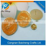 fancy funny round metal pin badge with easy accessory in the back offers favourable price and top quality for custom design