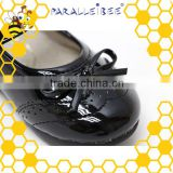 Promotional non slip healthy black student school shoes italian shoe manufacturers