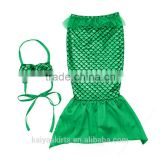 2016 green mermaid magic kids clothing set unique childrens dresses 2016 baby