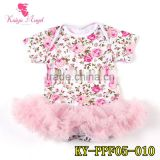 summer cotton rompers toddler jumpsuit flower prints bloomers baby girl's beautiful pink romper