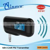 2016 newest design Mini FM Transmitter with car charger for iphone 5 and convert car fm radio to car mp3 player