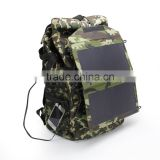 12W power rate high efficiency solar charger bag for laptop and smart phone outdoor camping