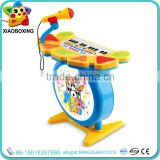 Top selling toy piano with microphone plastic drum musical instrument