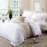 100 Cotton Hotel Bed Linen Jacquard Flower Bedding Set