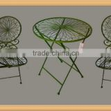 3pcs wrought iron folding bistro set