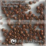 High Quality Fashion JS Glass Seed Beads - P46# Painted Brown Rocailles Beads For Garment & Jewelry