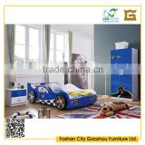 unique style wooden bedroom furniture sets with kids race car bed design