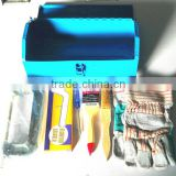 Exothermic welding tools box with horse bow heat-resistant gloves slot type screwdriver chamotte copper brush baniste