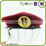 2015 New Army Warm Winter Hat Colourful Peaked Beret Cap Military Wool Beret With Eyelets Adjustable