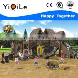 Straw House aluminum playground slide solid wooden outdoor games novel heavy duty outdoor playground equipment