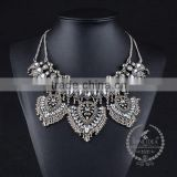 high quality vintage rhinestone chunky statement necklace tin alloy fashion women pendant necklace 6390128