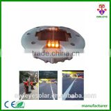 Highway embedded aluminium led solar road spike/Waterproof IP68 led solar road marker light
