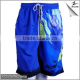 100% Polyester OEM Custom Design Colorful Sublimation Printed Surf Board Shorts Swimming Trunk Mens Beach Shorts