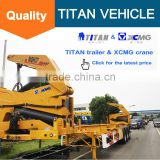 China New container self loading container truck trailer, 3 axle container side lift, 40 ft container side loader