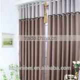 2015 hot sale linen like curtain 012 fabric and designed window fabric; made up curatin in hotel or home