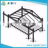 aluminum truss with rigging system for lightiing and speakers