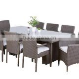 2017 Sigma discount weatherproof luxury italian pe rattan formal dining room furniture sets