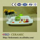 Supply stock ceramic plate set with Metal handle