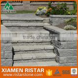 Light grey granite stone stairs treads steps riser for outdoor use