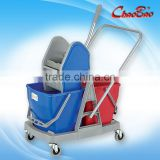 Down-press Double Mop Bucket Wringer Trolley For Home/Hotel