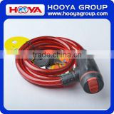 High quality bicycle cable lock with two keys bicycle cable lock