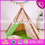 Deluxe indoor play kids teepee tent natural cotton canvas Indian kids teepee tent W08L005