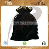 Cosmetic velvet pouch bag with drawstring