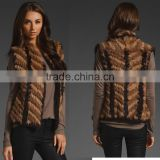 China Factory Wholesale YR570 Wholesale and Retail China Supply Hand Knit Rabbit Fur Wear Vests