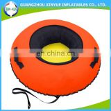 2016 Hot sale cheap cold-resistant nylon covered inflatable towable snow tube with hard bottom