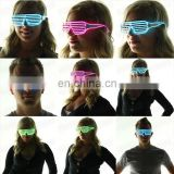 el glasses party light up Shutter led el wire glasses