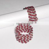 Red and Silver Beaded Napkin Ring for Wedding