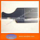 Plastic wide teeth hair comb